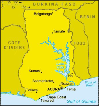 Accra Map Africa