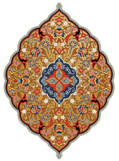 Bradbury Eastern Style Wallpapers | Ornamental Golden Persian Medallion
