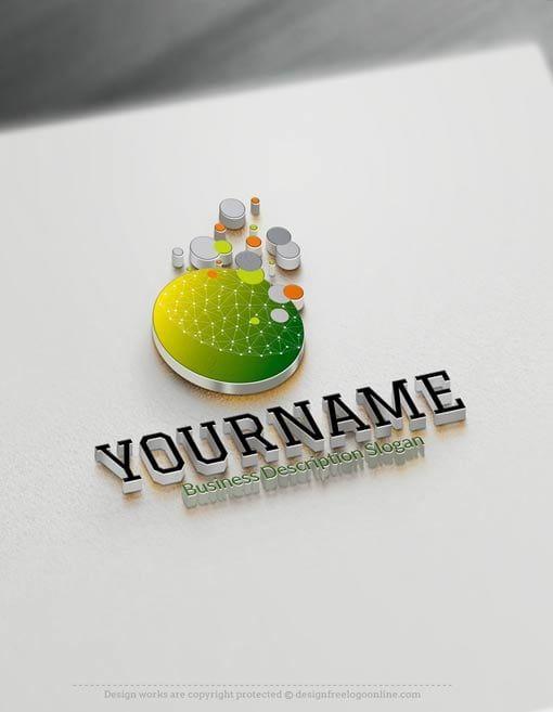 Tech Logo Design Maker - Business Bubbles Online Logo