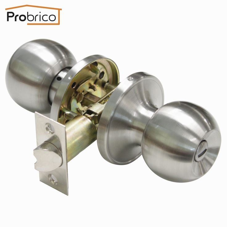 16.99$  Buy now - http://alildk.shopchina.info/1/go.php?t=32550631253 - Probrico Stainless Steel Safe Lock Security Door Lock DL607SNBK Door Handle Privacy Door Keyless Lock Knob USA Domestic Delivery  #aliexpressideas