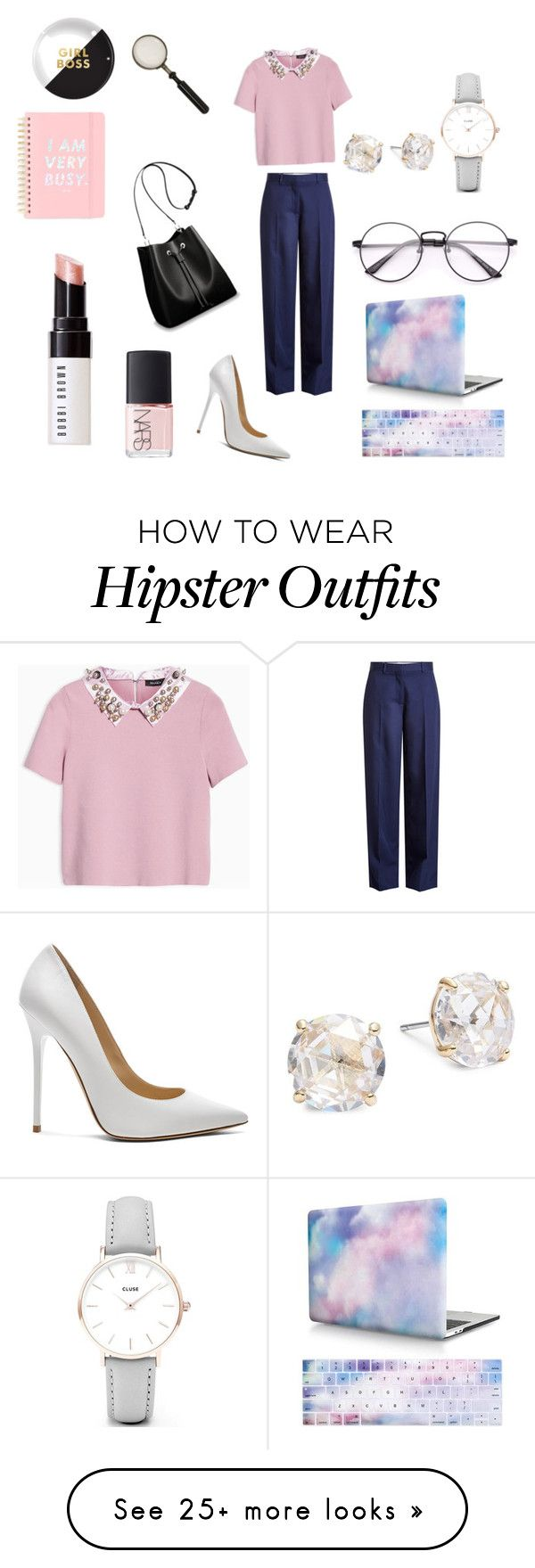 """""""Office chic look"""" by miloni-jhaveri on Polyvore featuring Max&Co., Victoria Beckham, Jimmy Choo, Louis Vuitton, CLUSE, Kate Spade, Bobbi Brown Cosmetics, NARS Cosmetics, ban.do and Fringe"""
