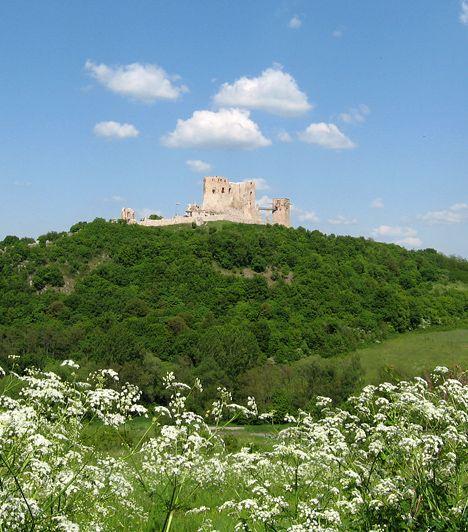 Cseszneki vár, Bakony Cseszneket nem véletlenül nevezik a Bakony gyöngyszemének. A tatárjárás után építtetett híres vára hazánk egyik legszebb részén, a hegység Győr és Zirc közötti lankáin foglal helyet. Az Esterházy grófok a 18. században barokk kastéllyá alakították át, egy földrengés, majd tűzvész következtében azonban a romok ma a 16. századi állapotot tükrözik.