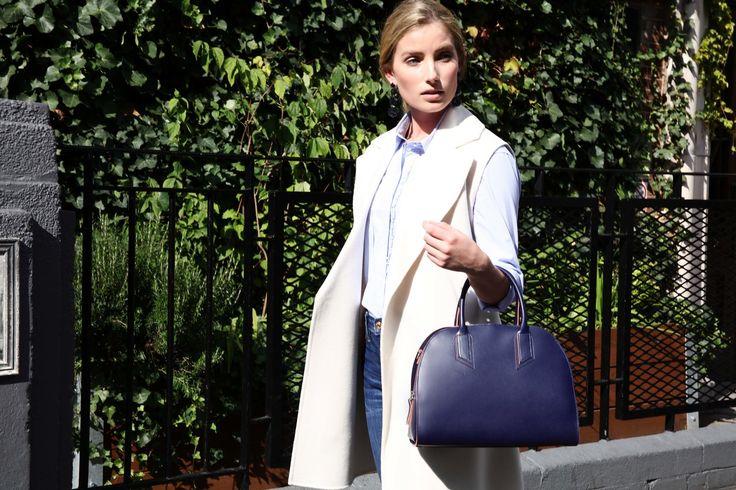 Alexandra de Curtis Fall Winter 17/18 Bowling Bag in Navy | #bowlingbag