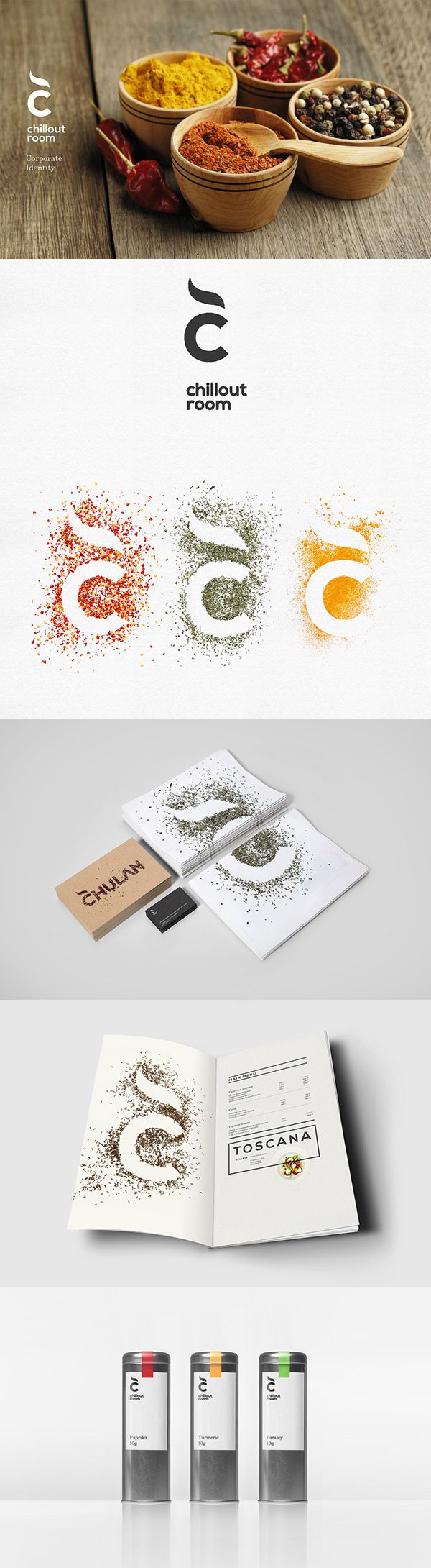 Chillout room spices #identity #packaging PD