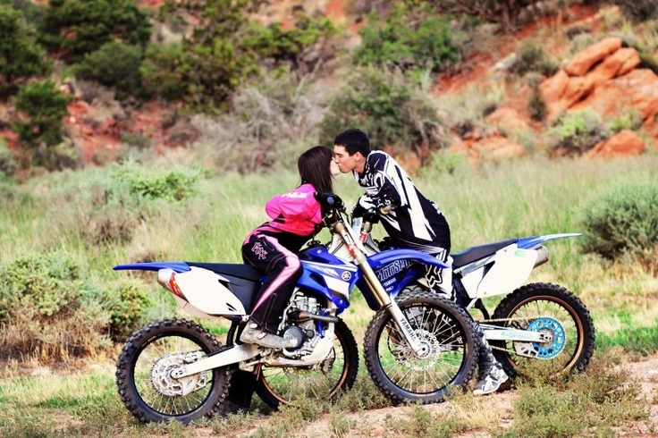 Dirtbike engagements! My engagement pictures turned out so good and people love them because they are different