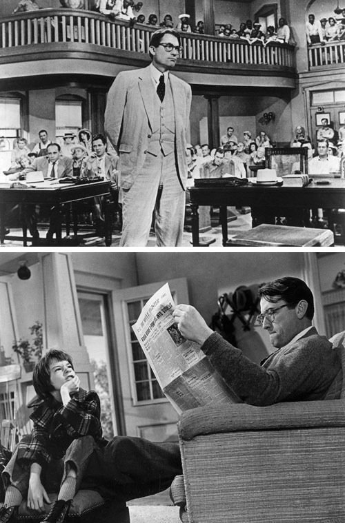 To Kill a Mockingbird @Design*Sponge. Love the book, love the film, love Atticus Finch and I will always love Gregory Peck.