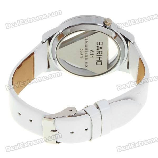 Stylish Quartz Wrist Watch with Crystal - White (1*377)