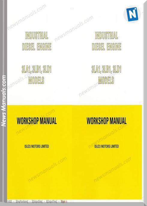 Isuzu 3La1 3Lb1 3Ld1 Workshop Service Manual 1994 | Electrical diagram,  Workshop, ManualPinterest