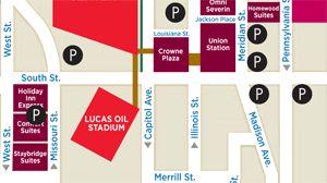 Getting Around Indy | Parking | Lucas Oil Stadium