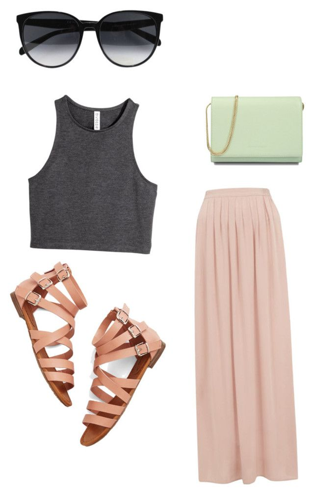 Summer love by abby-mercier on Polyvore featuring polyvore, fashion, style, H&M, CHARLES & KEITH and CÉLINE