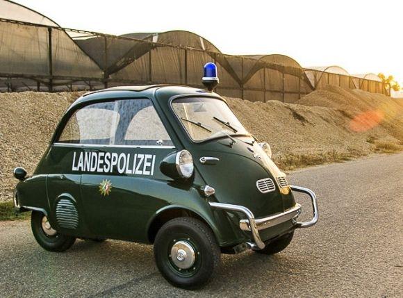"""1958 BMW Isetta 300 """"Landespolizei"""" > Das ist ja wirklich süß <"""
