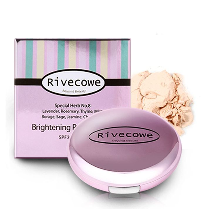 Rivecowe Make up Brightening powder Pact  #23 Face Foundation Cosmetics Korea #Rivecowe