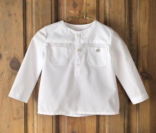 Camisa Mao Mi Canesú--Camisa básica de cuello mao.Composición: 100% algodón.
