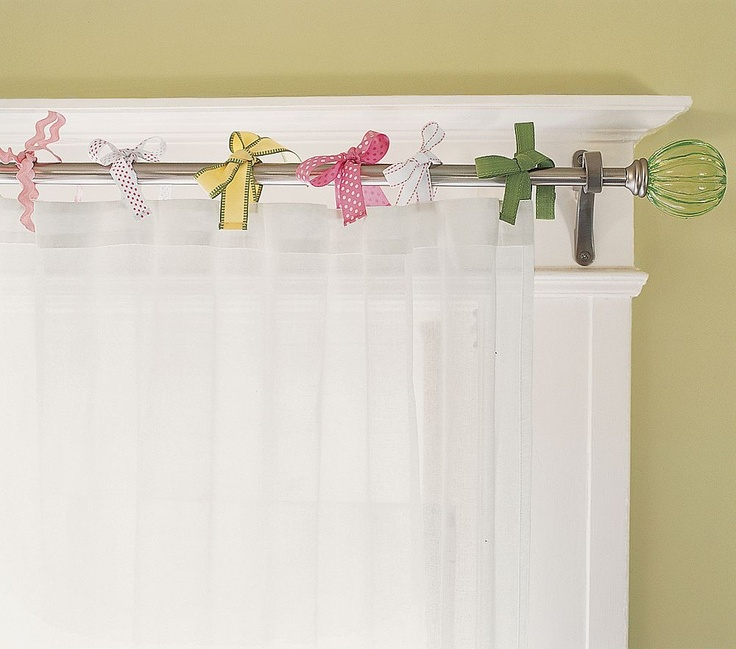 Creative way to hang curtains savvy pinterest - Unique ways to hang curtains ...