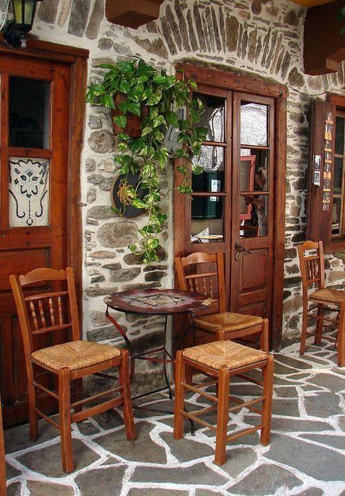 """Καφενές στη Νάξο ~ Traditionalcafe (""""kafenes"""") in Naxos Island Hellas Art & Architecture"""