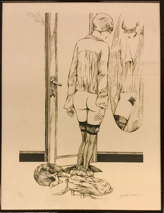 """Guido Crepax, """"Valentina allo specchio"""" - engraving - 1980s - Catawiki"""
