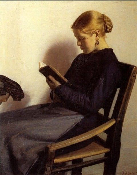 Michael Peter Ancher  Art, posters and prints of a woman or women reading repinned by www.AboutHarry.com