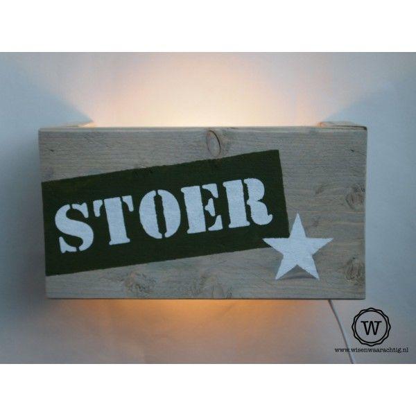 Steigerhouten #wandlamp STOER (eigen ontwerp mogelijk)