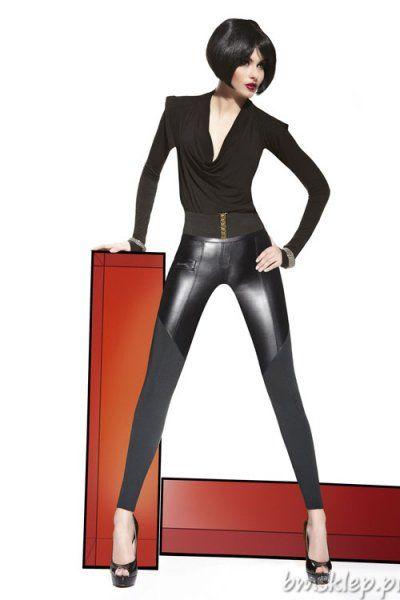 Modne legginsy imitujące spodnie ! Pięknie opinają sylwetkę podkreślając kuszące kobiece kształty. Góra wykonana z a'la skóry dół z elastycznej gładkiej dzianiny. Z przodu i z tyłu szew oraz imitacje kieszonek. Końce zwężających się nogawek obszyte mocną, podwójną nitką. Legginsy - wyrób o dokładnej nazwie - Tregginsy – imitacja spodni, inaczej wygodne spodnie. Uwaga ! Wstawka skórzana - jest półm... #Legginsy - http://bmsklep.pl/legginsy
