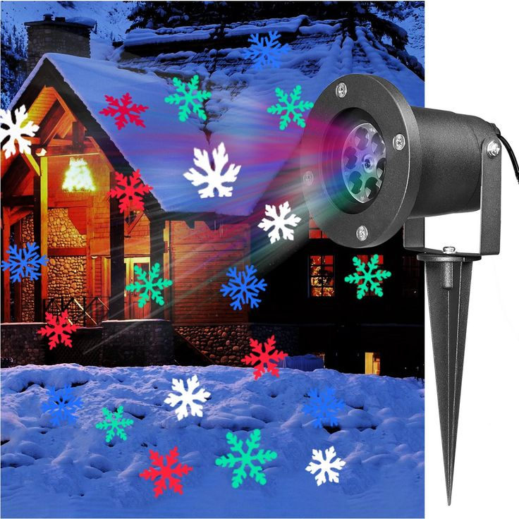 YUNLIGHTS Christmas Light Projector Colorful Moving Snowflakes Waterproof LED Landscape Projector Light for Indoor, Outdoor, Xmas, Home, Wall Decor