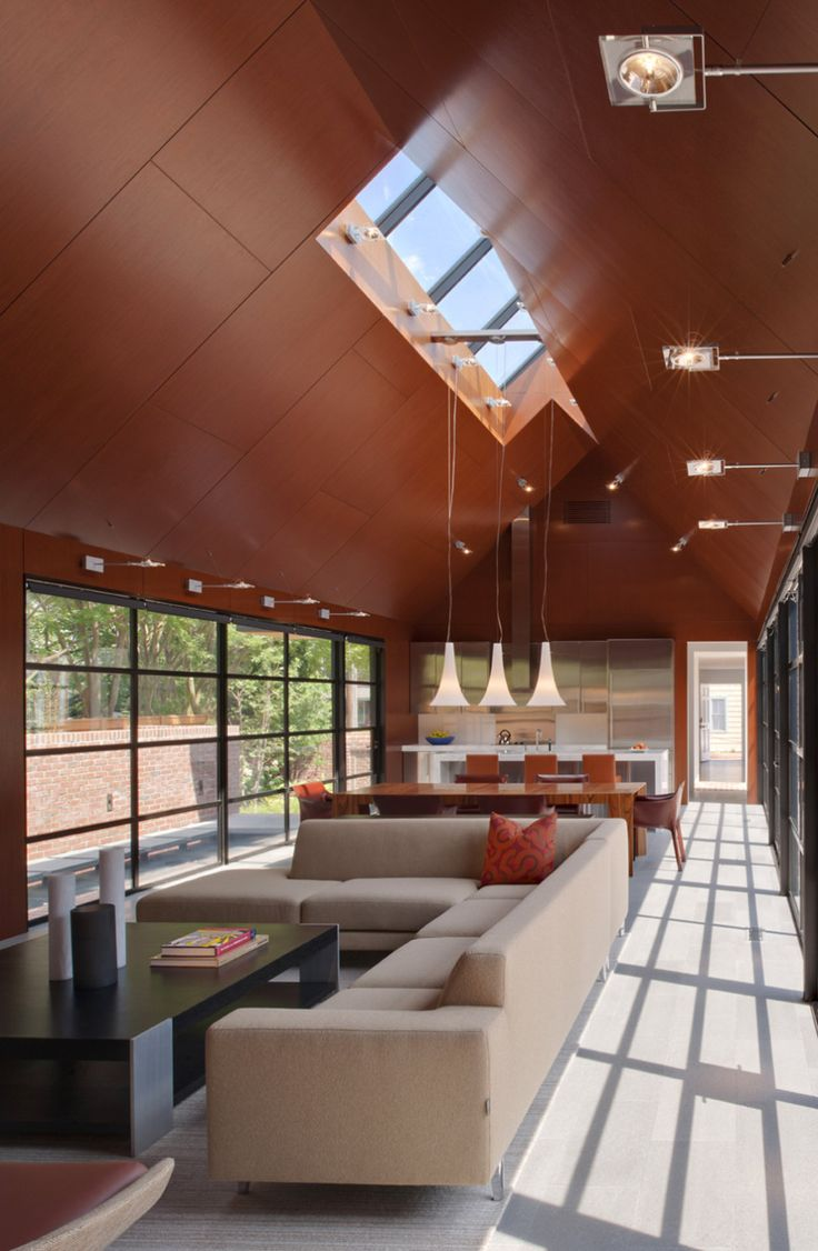 Architecture, Earthy Sharp Roof Design With Ceiling Windows Seen At Modern Architecture Blog: Modern Architecture Blog Advice about Historic...