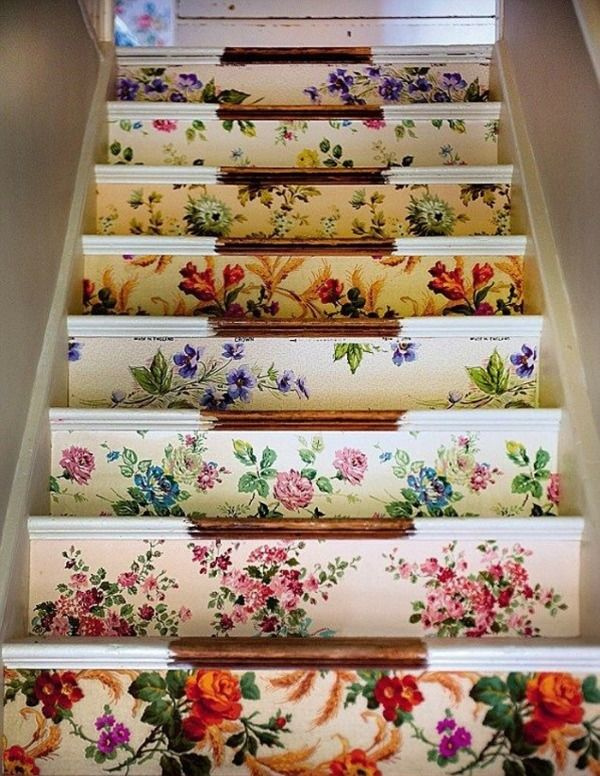 bloemen-trap-behang