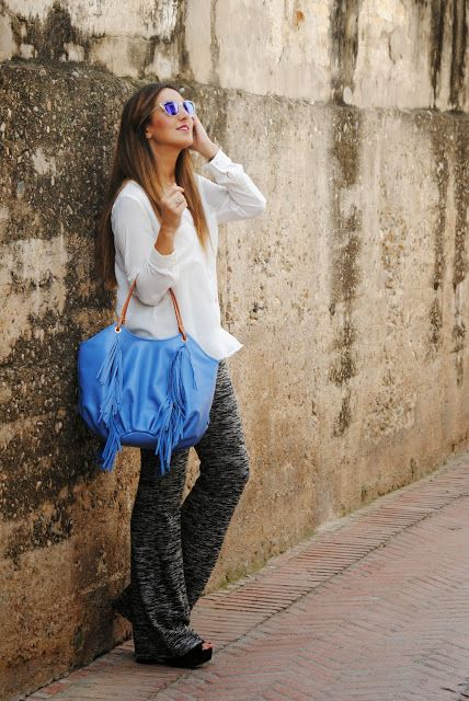 """Benchbags, in blue"" in @fashionsouth #Post #Blogger"