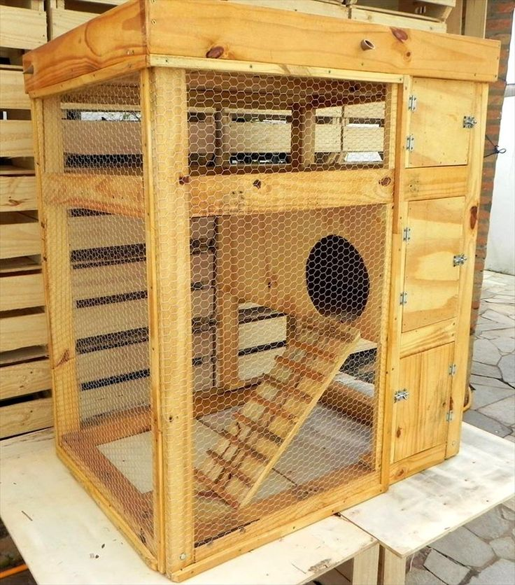 Upcycled Pallet Rabbit Hutch