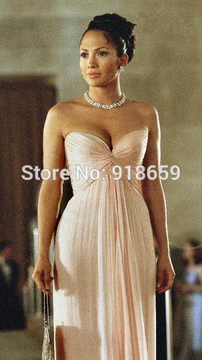 Wholesale - Custom Made High Quality 100%  Bridesmaid Dress in the movie 'Maid In Manhattan' Made of Chiffon