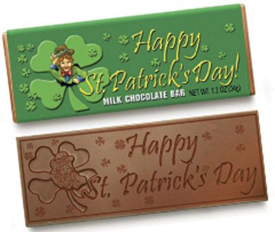 Happy St. Patrick's Day Chocolate Wrapper Bar