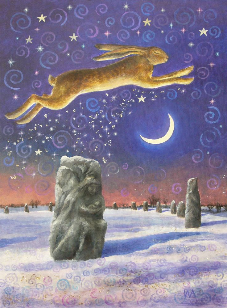 Winter Solstice Traditions Pagan | Original Artwork, Winter Solstice Magick © Wendy Andrew 2008