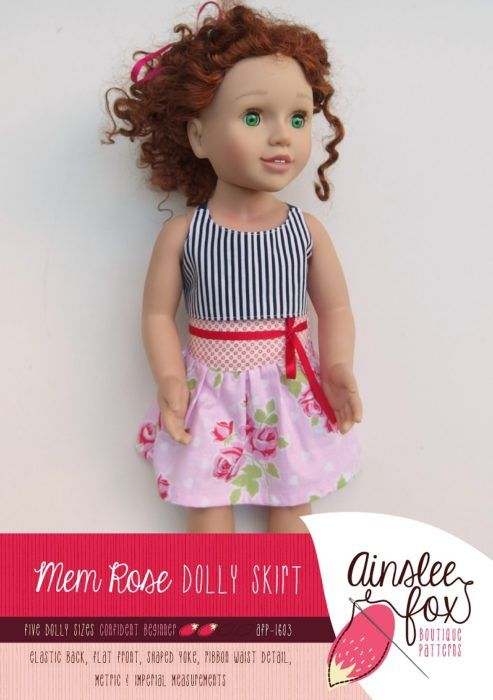 Dolly Mem Rose Skirt Front Cover