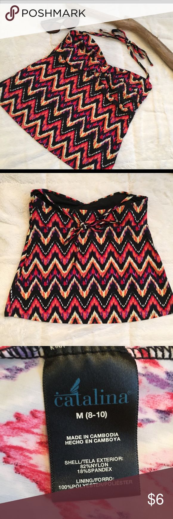 Catalina Tankini Chevron Top Good condition. The straps are not detachable. A10007 catalina Swim Bikinis