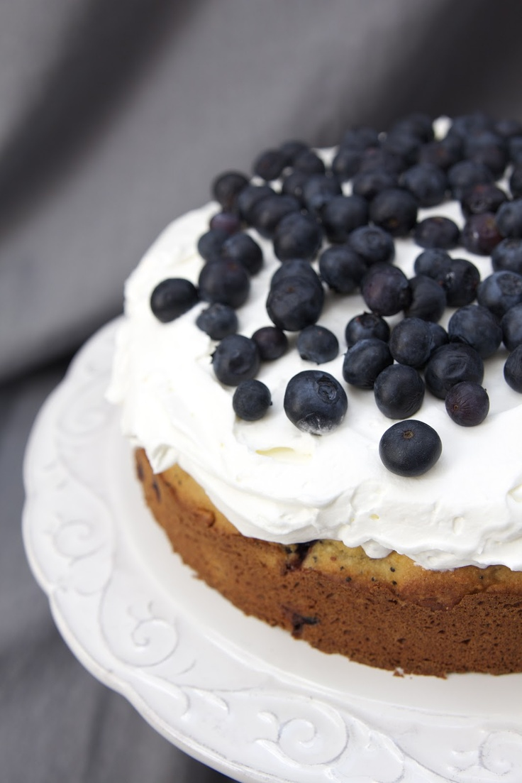 Almond Flour Blueberry Lemon Poppyseed Cake (GF)