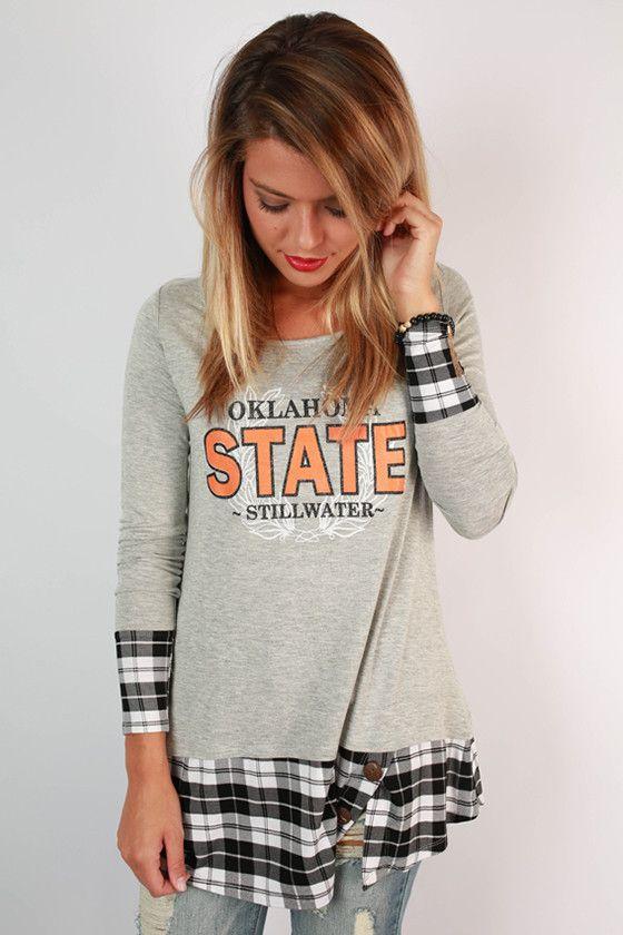 hamp m University online shop State shopping Tunic Plaid uk Oklahoma
