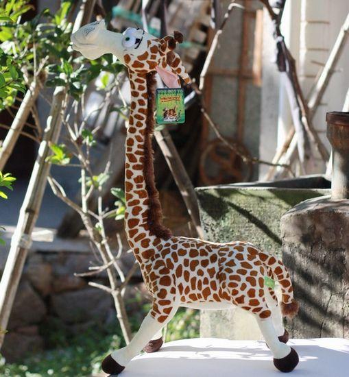 Праздничная распродажа 1 шт. 35 см аниме творческий мадагаскар жираф украшения плюшевые куклы мило мягкая игрушка детей свадебный подарок на день рождения