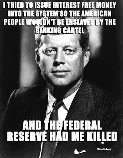 Ok, how can the illuminati have killed Kennedy when everyone knows it was a) the Democratic National Party b) the KKK c) the Back Panthers d) The Russian Communists e) Castro f) The Republican Party g) the mob h) a jealous lover of Marilyn Monroe I) the Masons, j) the FBI, or possibly k) Elvis in cooperation with the greys