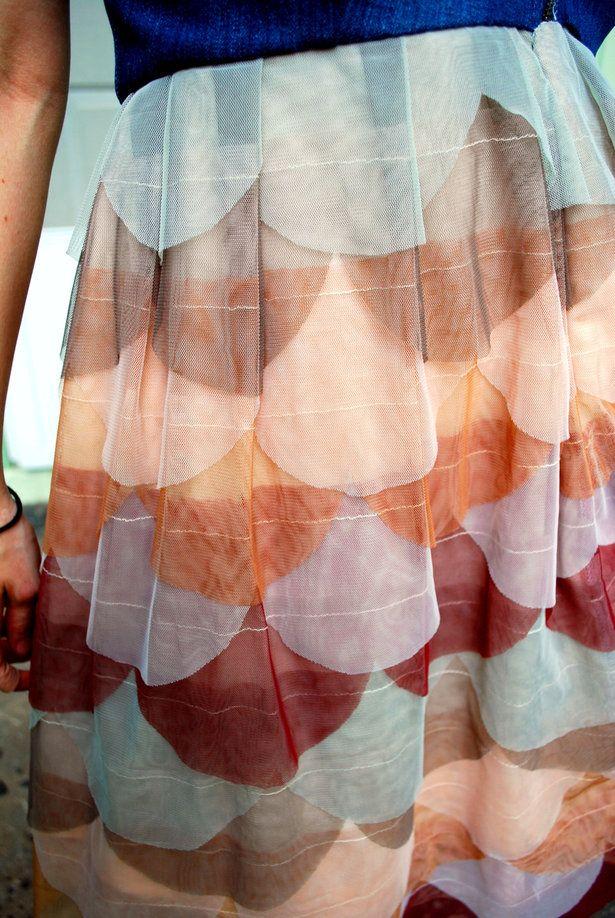 tulle scalloped skirt