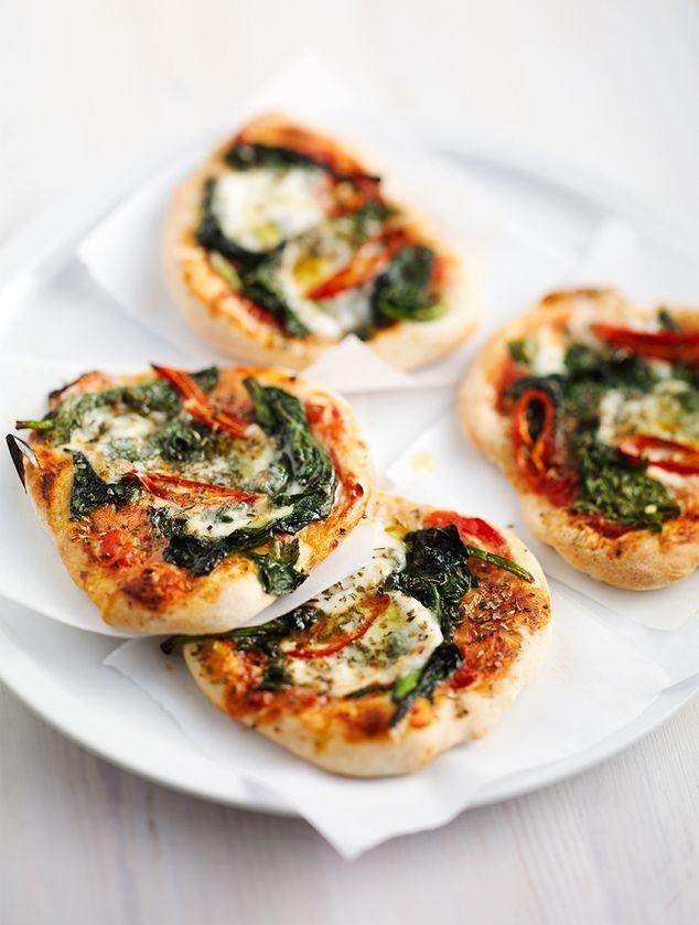 minipizza's met spinazie