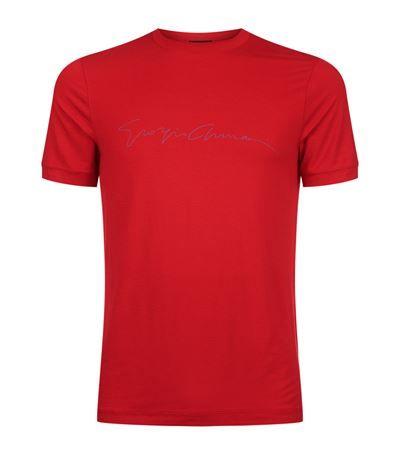 GIORGIO ARMANI Signature Round Neck T-Shirt. #giorgioarmani #cloth #