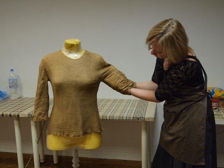 Рассказ о семинаре Лары Соболевой или как добиться хорошей посадки войлочной одежды   Блог Елены Самодивки