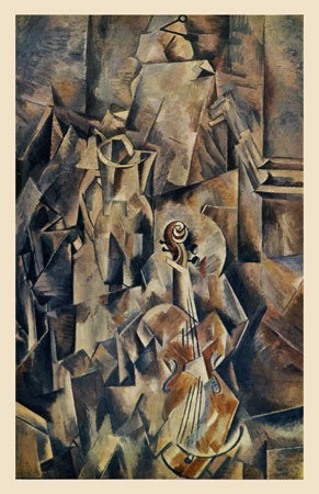 Braque,violin and candlestick 1910 cubisme analytique