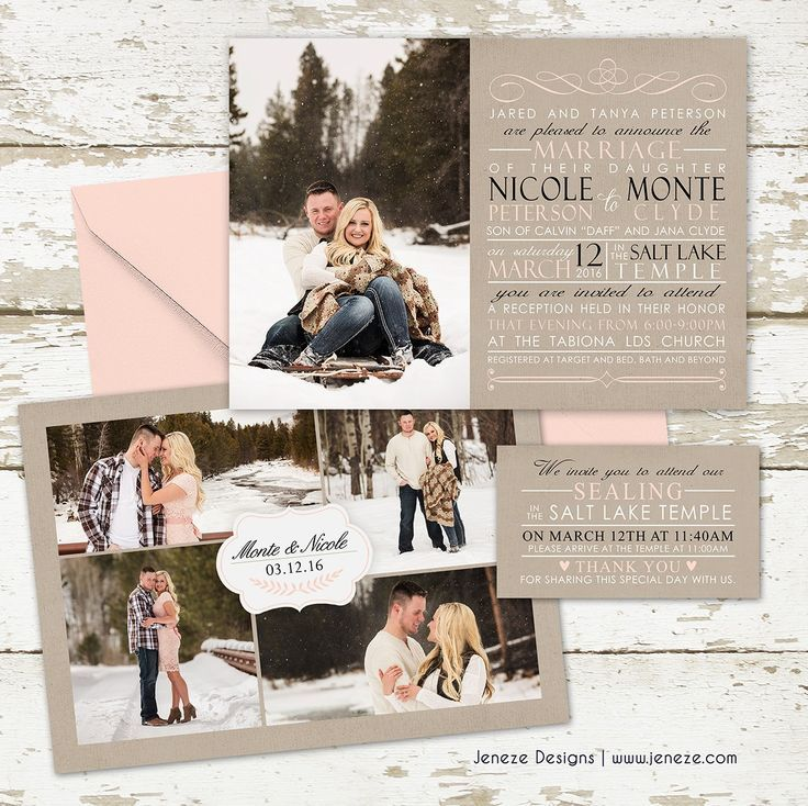 bed bath and beyond wedding invitation kits%0A Image result for Winter Engagement Scrapbook  Photo InvitationsCustom  Wedding