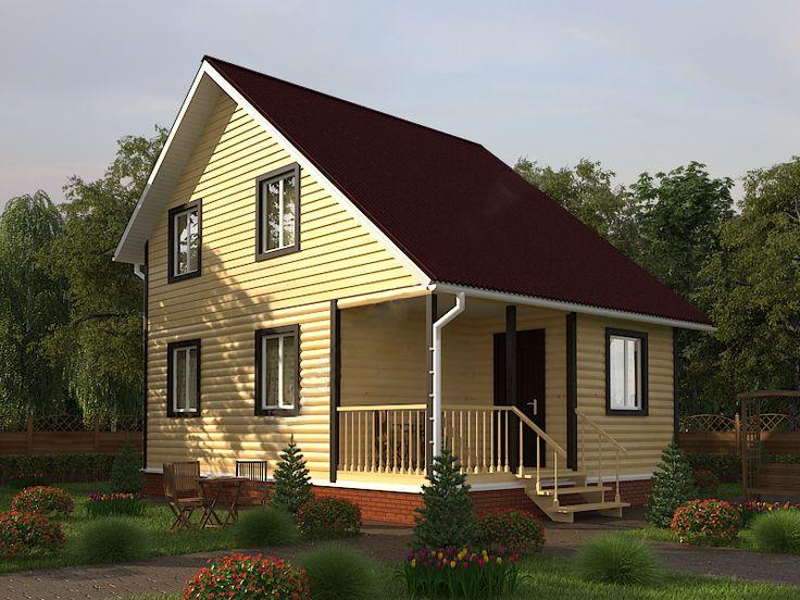 Готовый проект каркасно-щитового дома 9x8,5 Строительная компания «ДОМ МЕЧТЫ».