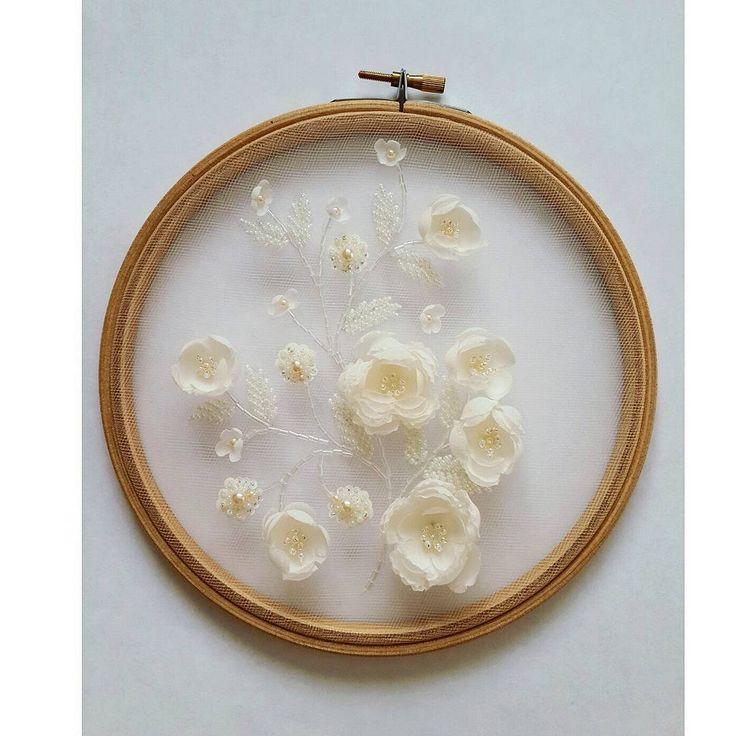 """Флёра🌸 on Instagram: """"Архив...образец...свадебное платье...шёлковые цветы...для @ateliermoscow❤ ..... Глаза говорят больше, чем слова. Поэтому когда больно – мы…"""""""
