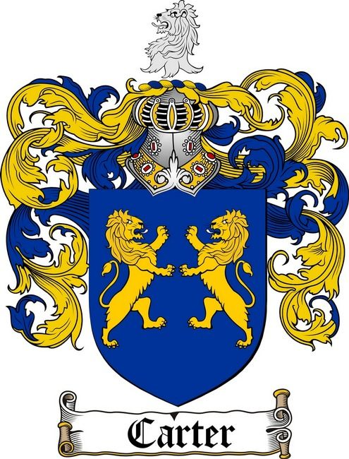 CARTER FAMILY CREST - COAT OF ARMS WWW.4CRESTS.COM