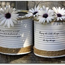 Hometalk :: I love tin can projects! With this quick and easy project, I literally…