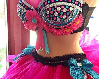 Made to order Bra and tutu. With LED lights extra charge.