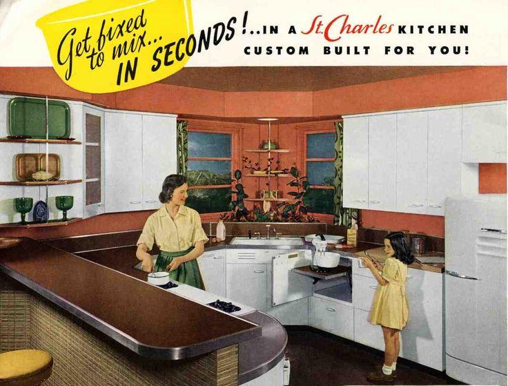 966 Best Vintage Kitchen Ideas Images On Pinterest