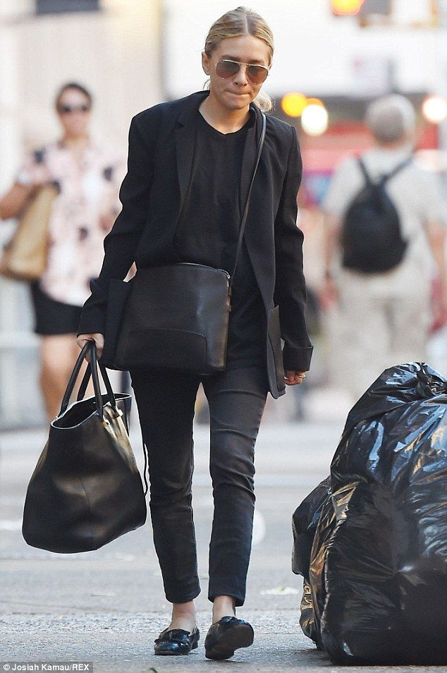 Just another 9-to-5'er?: Ashley Olsen looked like a regular New Yorker as she carried two ...